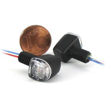 SMD Blinker Fly schwarz mit Rücklicht und Bremslicht klar
