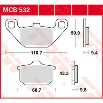 TRW Bremsbeläge MCB532 Organisch mit ABE