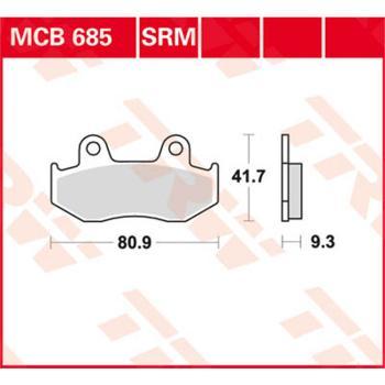 TRW Bremsbeläge MCB685 Organisch mit ABE