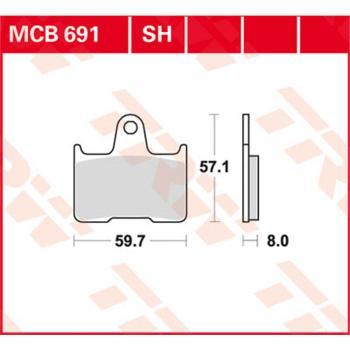 TRW Bremsbeläge MCB691 Organisch mit ABE