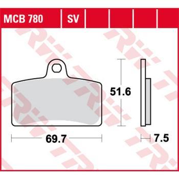 TRW Bremsbeläge MCB780 Organisch mit ABE