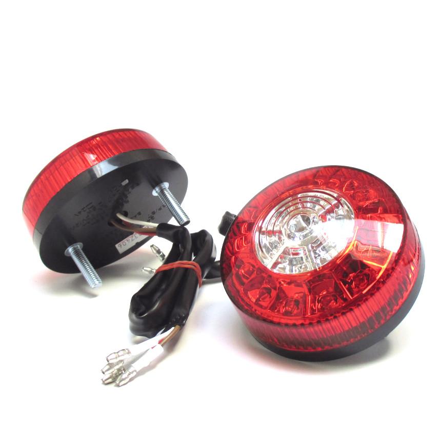 led blinker r cklicht bremslicht round 3 in 1 rot klar m6. Black Bedroom Furniture Sets. Home Design Ideas